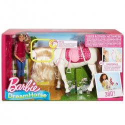 BARBIE Interaktywny Koń+Lalka